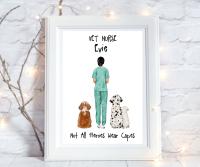 Print Vet Nurse Not All Heroes Wear Capes