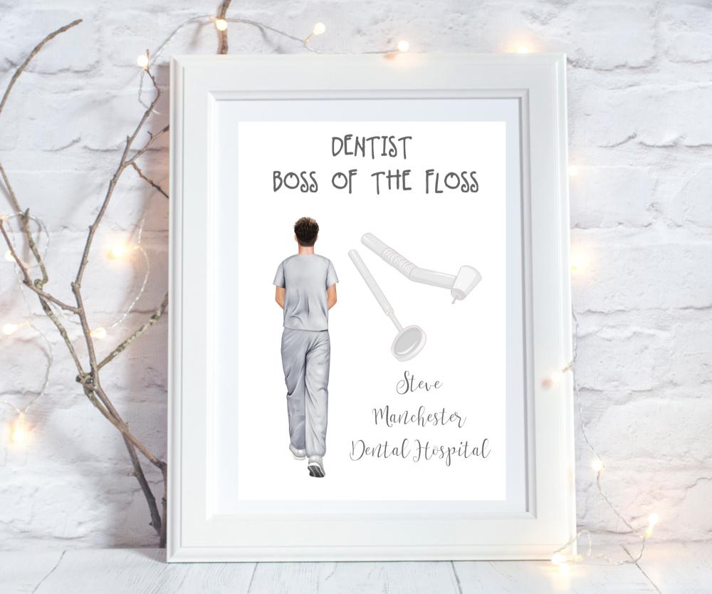 Print Dentist Boss of the Floss MALE