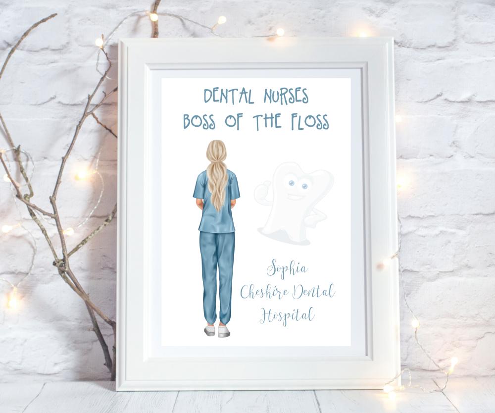 Print Dental Nurse Boss of the Floss