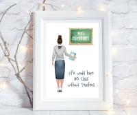 Print Teacher Life No Class FEMALE