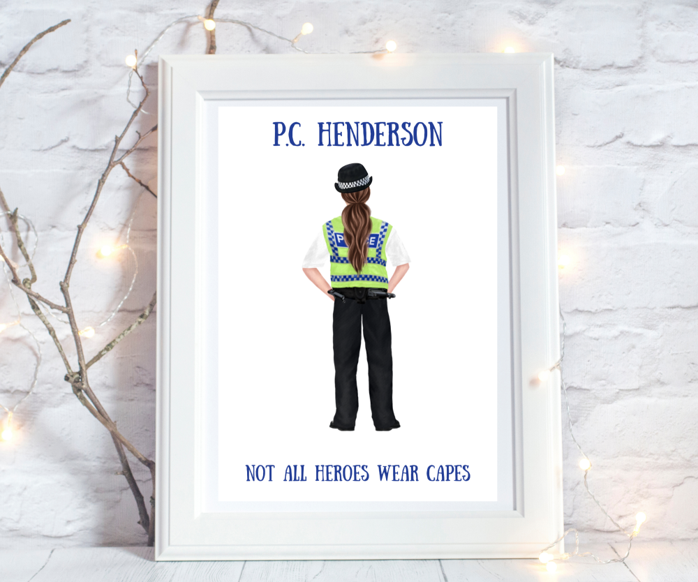 personalised police gifts graduation retirement
