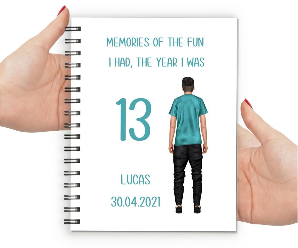 13th Birthday Boy Notebook