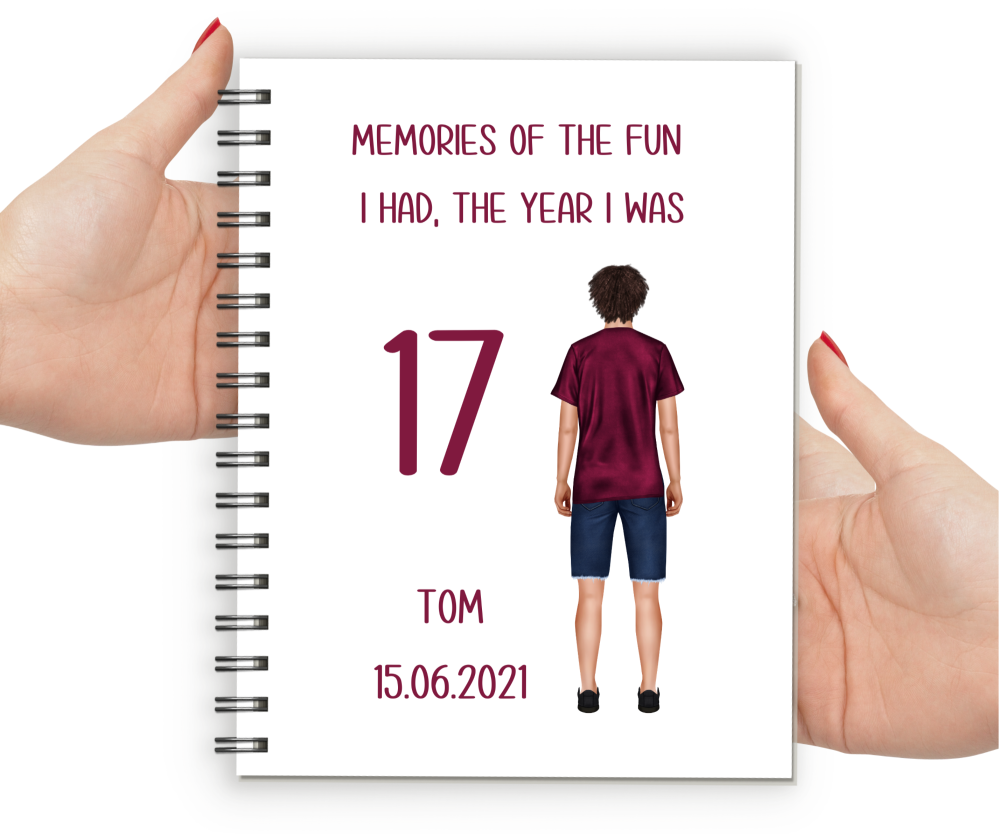 17th Birthday Boy Notebook
