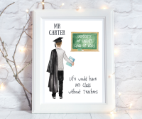 Print Graduation Teacher Male