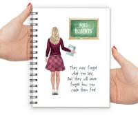 Teacher Notebook Female (Make Me Feel)
