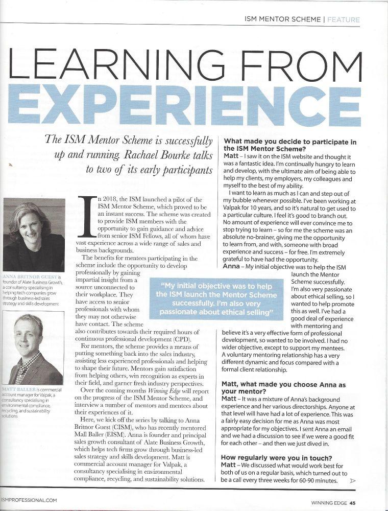 ISM mentoring p1