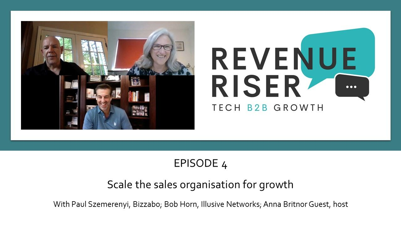 Scales the sales organisation for growth