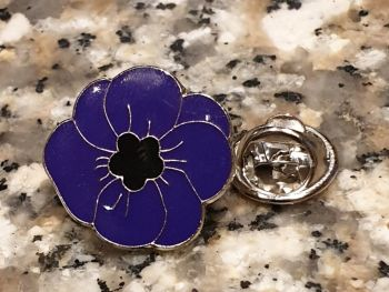 Purple Poppy Enamel Pin Badge