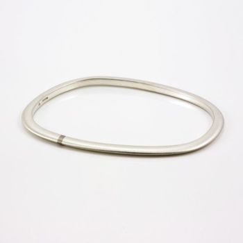 Lode Silver Bangle with Gold Inlay