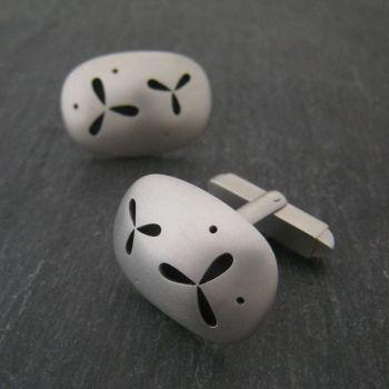 Pierced Silver Cufflinks *SALE*