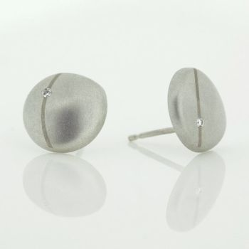 Flint small diamond stud earrings