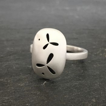 Pierced Silver Ring - Small *SALE*