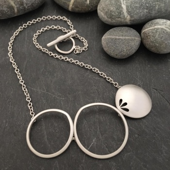 Pierced Silver Necklace with Loops *SALE*