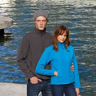 Unisex Softshell Jacket  with logo on left chest