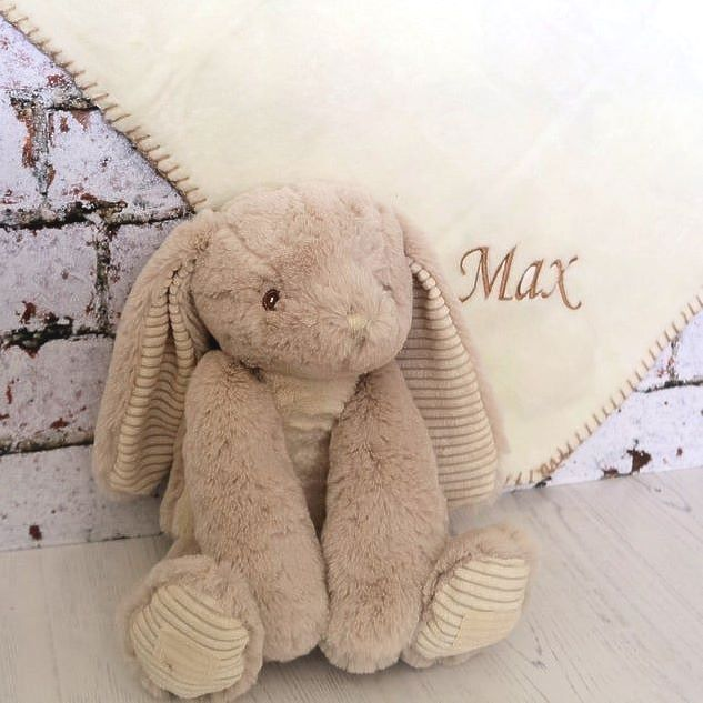 Rabbit  with Personalised  Snuggle Blanket