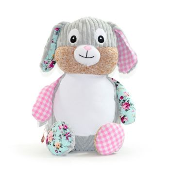 "Personalised ""Clovis Pink"" Harlequin Bunny"