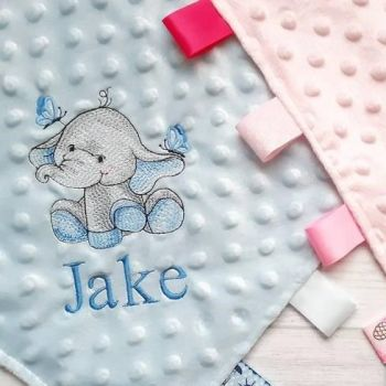 Baby Ellie Comforter  (Pink, Blue or White)