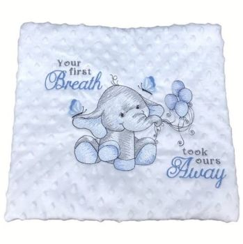 """Your First Breath"" Baby Blanket"