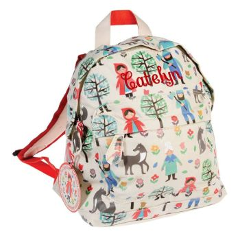 Personalised  Red Riding Hood mini backpack.