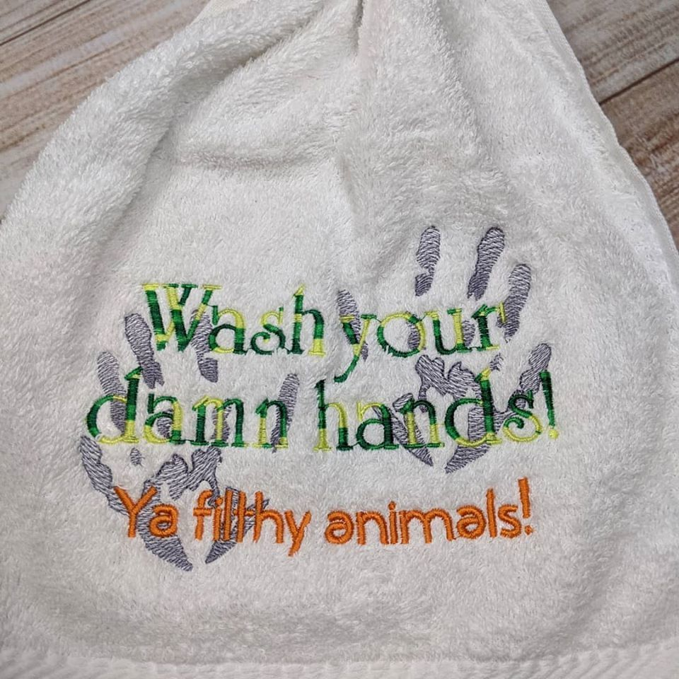 """Wash Your Hands"" Towel"