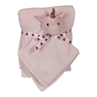 Pink Unicorn Blanket set