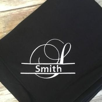 Family, Name or Monogram Blanket  (Various Colours Available)
