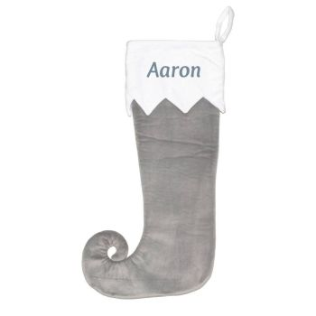 Christmas Stocking - Silver curly toe