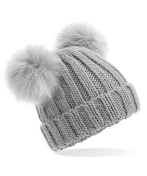 **NEW**  Personalised Double pom pom hat   (Grey or Black)