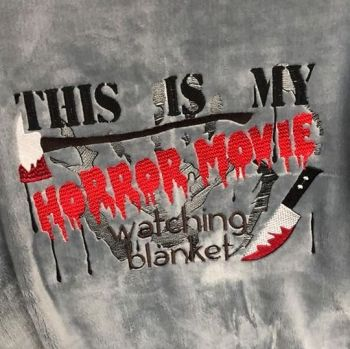 """""""Horror Movie"""" Blanket  (Various Colours Available)"""