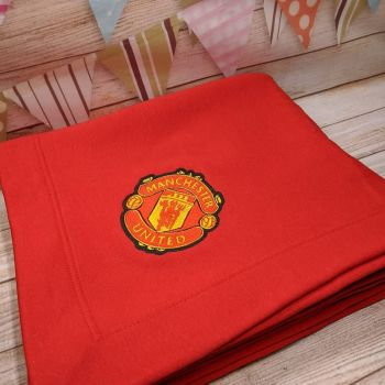 """""""Manchester United"""" Blanket  (Various Colours Available)"""