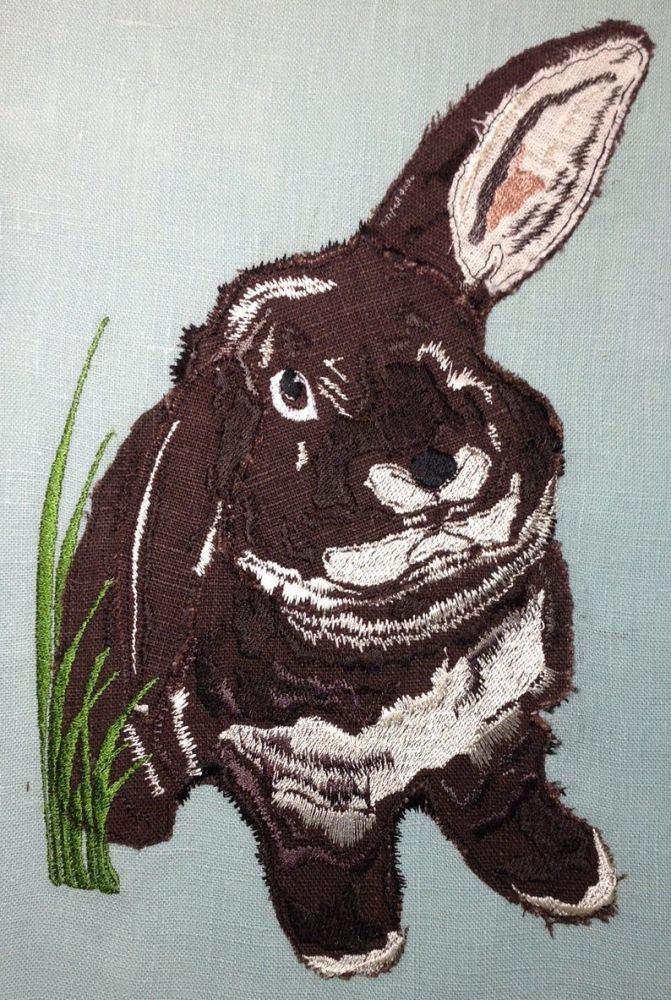 RABBIT - applique and embroidery Design