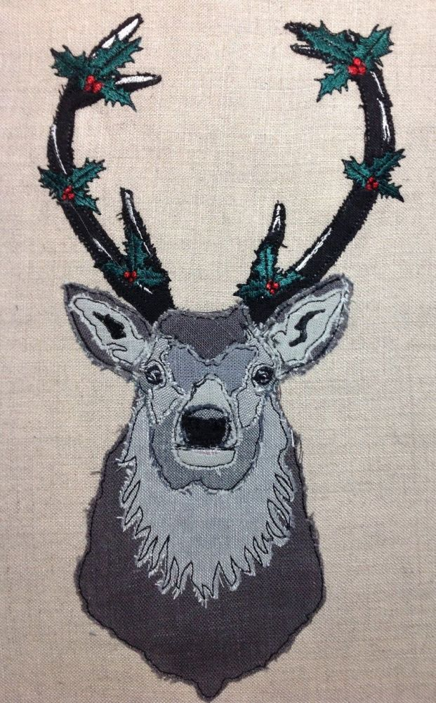 Stag - Holly in Antlers