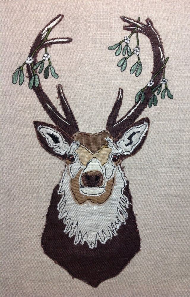 Stag - Mistletoe in Antlers Design
