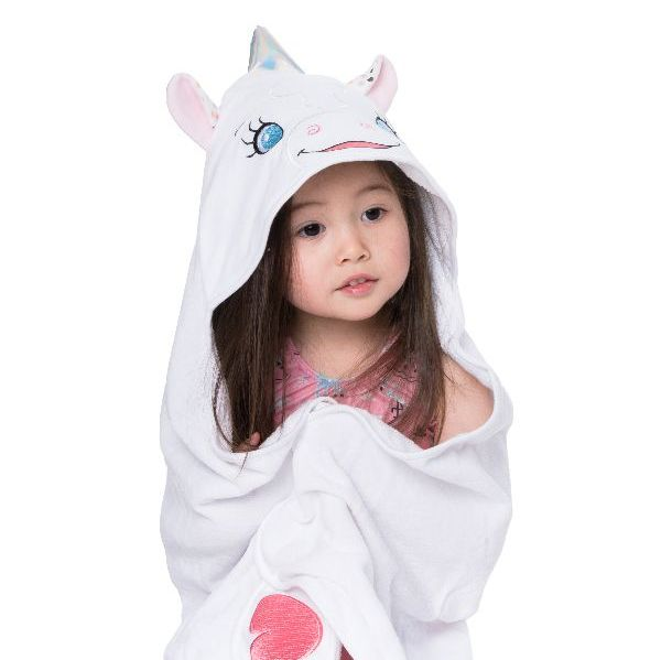 "Personalised  ""Aurora Unicorn"" Hooded Towel"