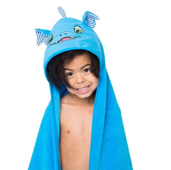 "Personalised  "" Scorch Dragon"" Hooded Towel"