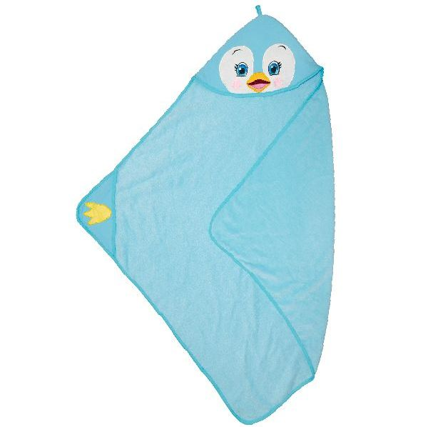 "Personalised  ""Puddles Penquin"" Hooded Towel"