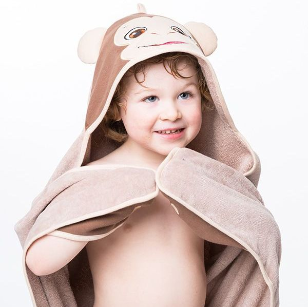"Personalised  ""Bugaloo Monkey"" Hooded Towel"