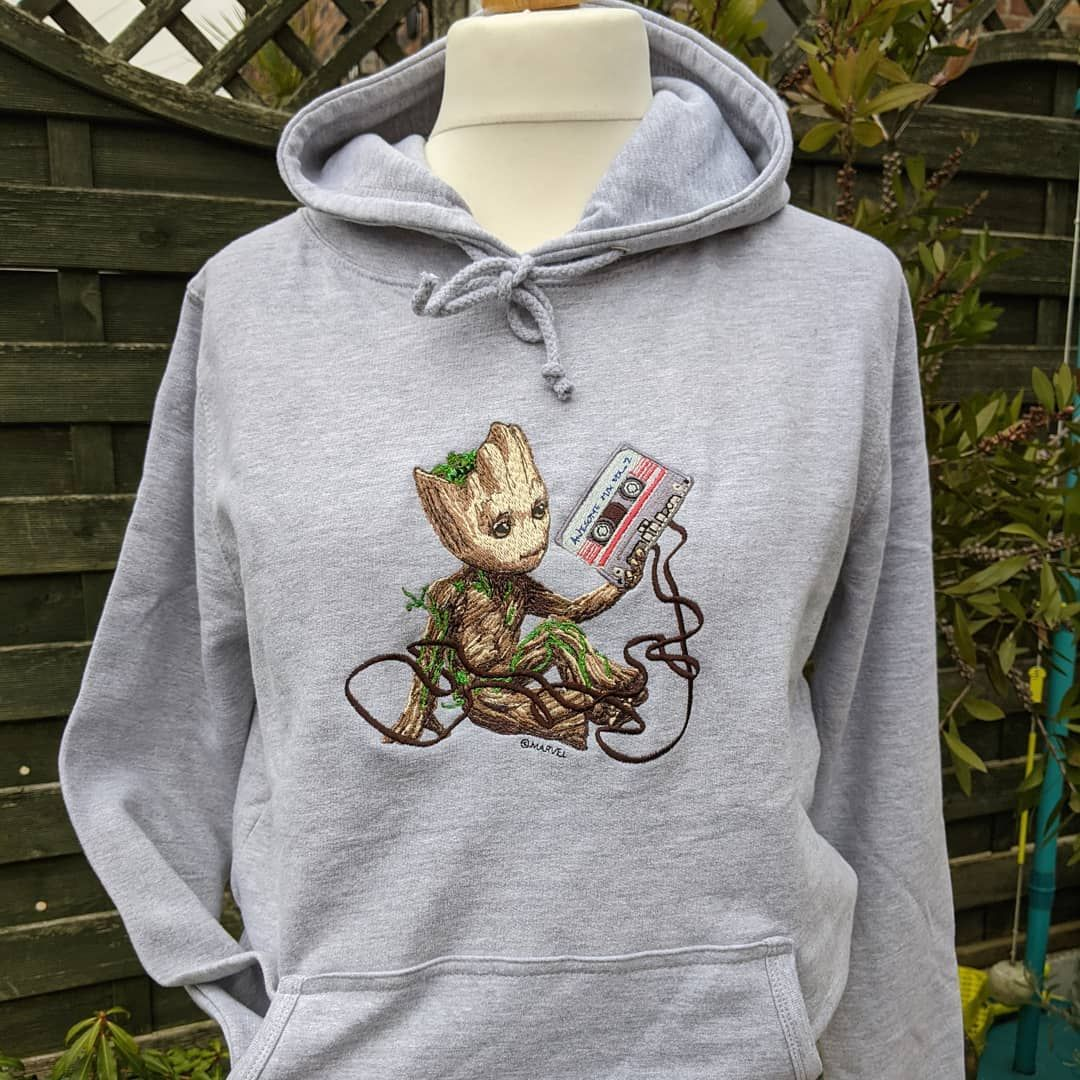 Hoodie with Groot design   ( S-5XL )