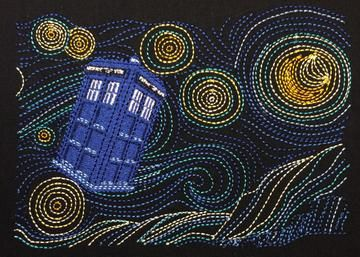 Dr Who / Starry Night  Hoodie   ( S-5XL )