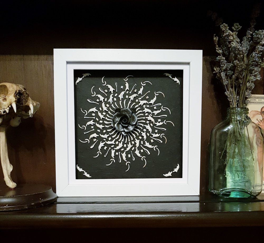 Owl Pellet Bone Art - Dark Sun