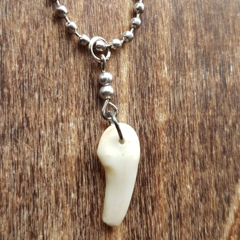 Red Deer Tooth Necklace (was £8.99)