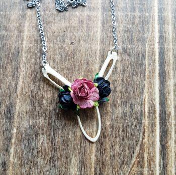 Wood Pigeon Bones Necklace Roses (was £17.99)