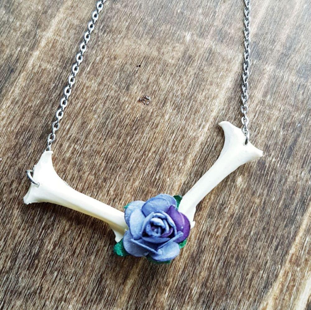 Pigeon Coracoid Bones Necklace (was £14.99)