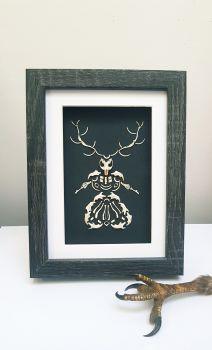 Owl Pellet Bone Art - Forest Witch