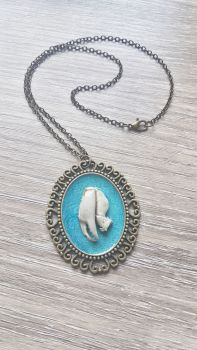 Crab Claw Bronze Gothic Style Pendant Necklace