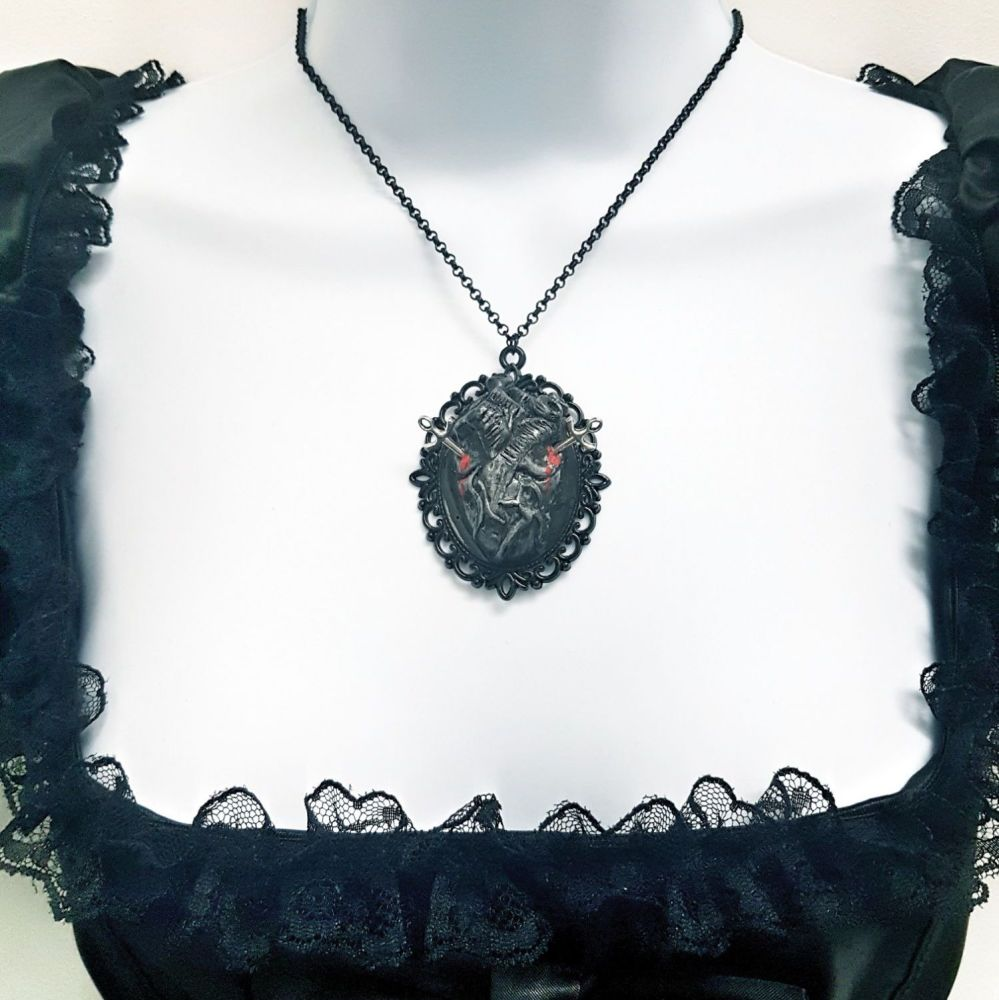 Bloodied Anatomical Heart With Daggers Necklace (was £10.99)