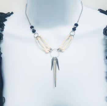 Pigeon Bones Spiked Necklace