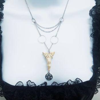 Rabbit Sacrum Pentacle Chandelier Necklace