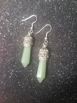 Jade Crystal Point Earrings