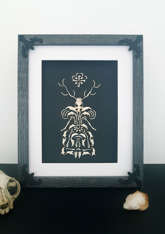Owl Pellet Bone Art -Forest Witch -